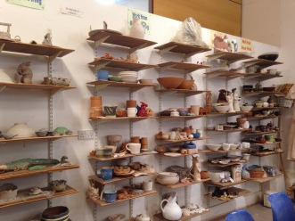 A range of pottery.