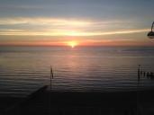 Aberystwyth beach sunset